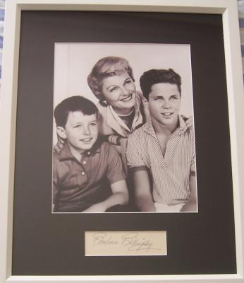 Barbara Billingsley autograph matted &amp; framed with Leave It To Beaver 8x10 photo