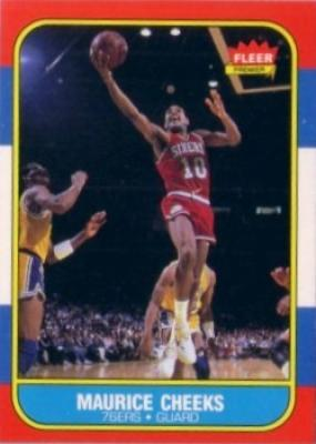 Maurice Cheeks Philadelphia 76ers 1986-87 Fleer basketball card