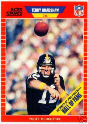 Terry Bradshaw Pittsburgh Steelers 1989 Pro Set Announcers card
