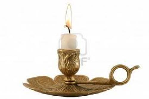 Brass Candleholder - horizontal - Decorative antique brass candelabra