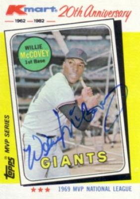 Willie McCovey autographed San Francisco Giants 1982 Topps card