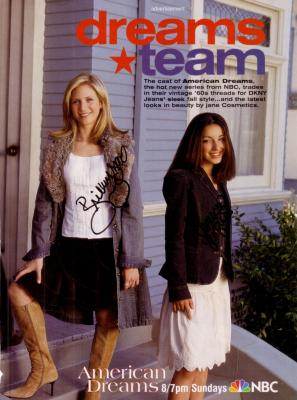 Vanessa Lengies &amp; Brittany Snow autographed American Dreams full page magazine ad