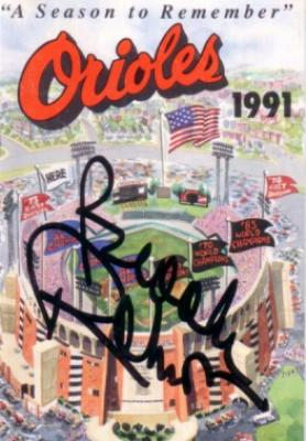 Brooks Robinson autographed Baltimore Orioles 1991 pocket schedule