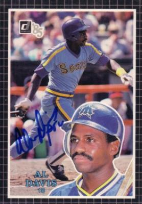 Alvin Davis autographed Seattle Mariners 1985 Donruss Action All-Stars card