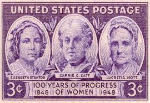 Stamps; US stamp commemorating &quot;100 years of progress of women, 1848-1948