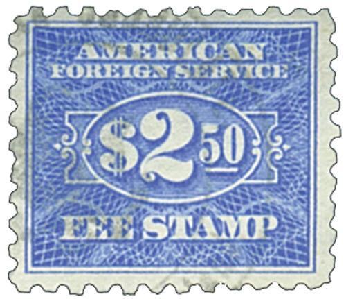 ultra, fee stamp, perf 10