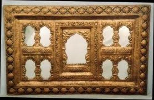 Antique Golden Mirror with 9 Seeings