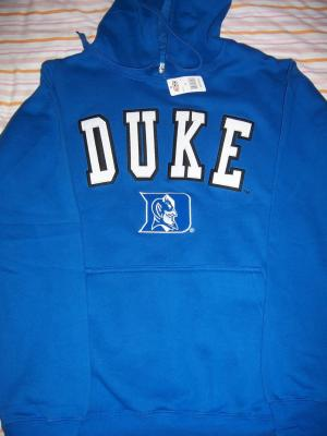 Duke Blue Devils embroidered hooded sweatshirt (hoodie) NEW WITH TAGS