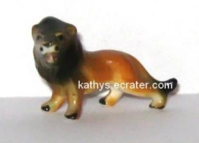 Bone China miniature Male Lion Animal Figurine