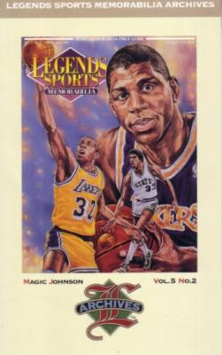 Magic Johnson 1992 Legends Magazine postcard