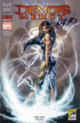 R.H. Stavis autographed Demons of Mercy comic book