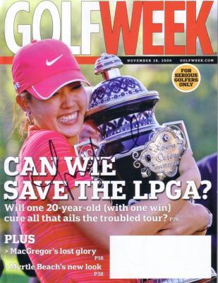 Michelle Wie autographed 2009 Lorena Ochoa Invitational Golfweek magazine