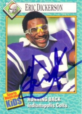 Eric Dickerson autographed Indianapolis Colts Sports Illustrated for Kids