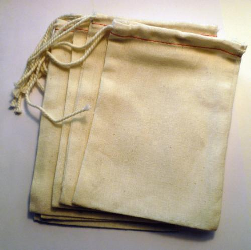 Muslin Bag, Unbleached Muslin Bag & Tea Bags