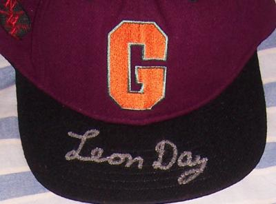 Leon Day autographed Homestead Grays cap