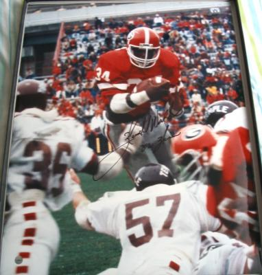 Herschel Walker autographed Georgia 16x20 poster size photo inscribed 82 Heisman