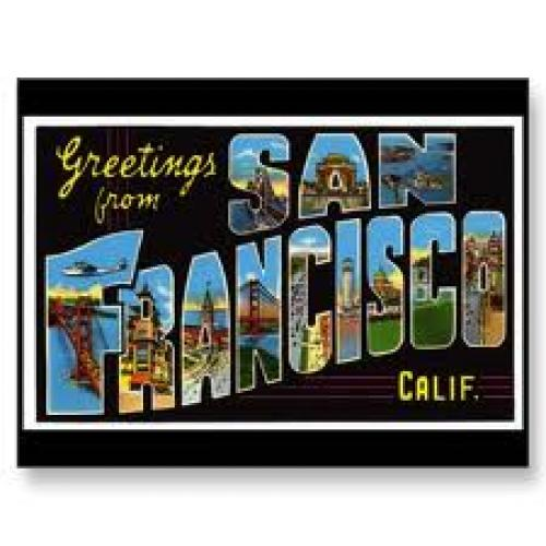 Postcard;United States california san francisco