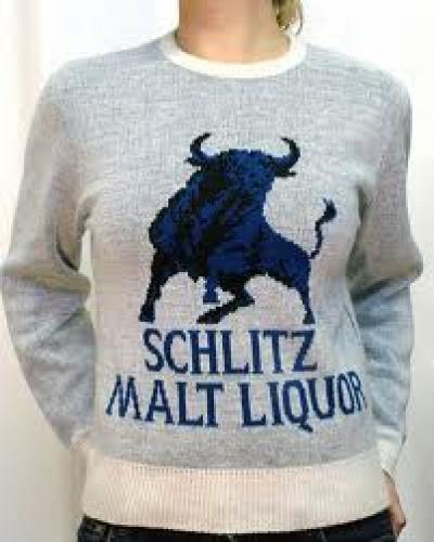 Breweriana; vintage beer label sweaters