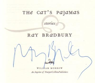 Ray Bradbury autographed The Cat's Pajamas book