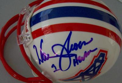 Warren Moon autographed Houston Oilers throwback mini helmet