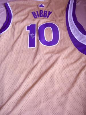 Mike Bibby autographed Sacramento Kings jersey