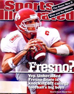 David Carr autographed Fresno State Sports Illustrated cover 8x10 photo
