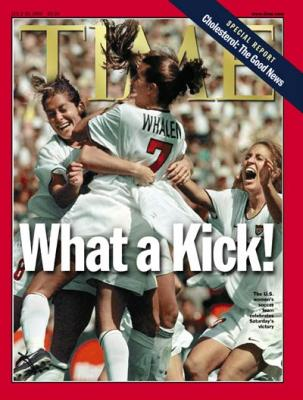 1999 U.S. Women&#039;s Soccer World Cup Champions Time magazine MINT
