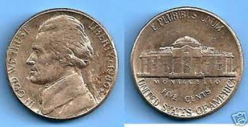 Coins; USA 5 Cents Jefferson Year: 1980