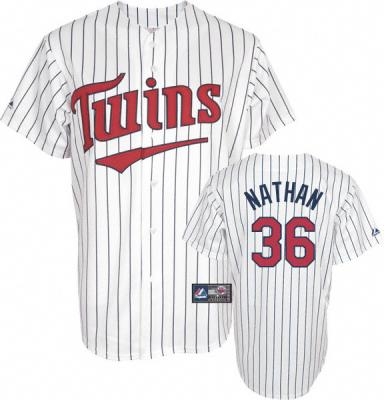Joe Nathan Minnesota Twins semi authentic stitched Majestic jersey NEW