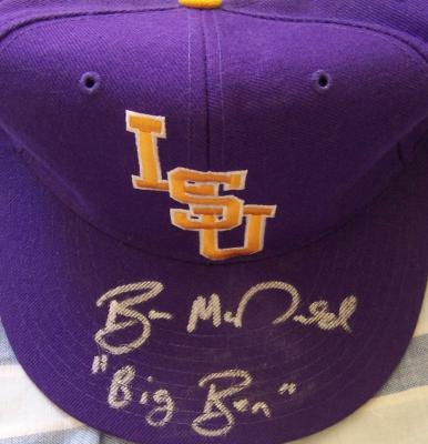 Ben McDonald autographed LSU baseball cap inscribed Big Ben